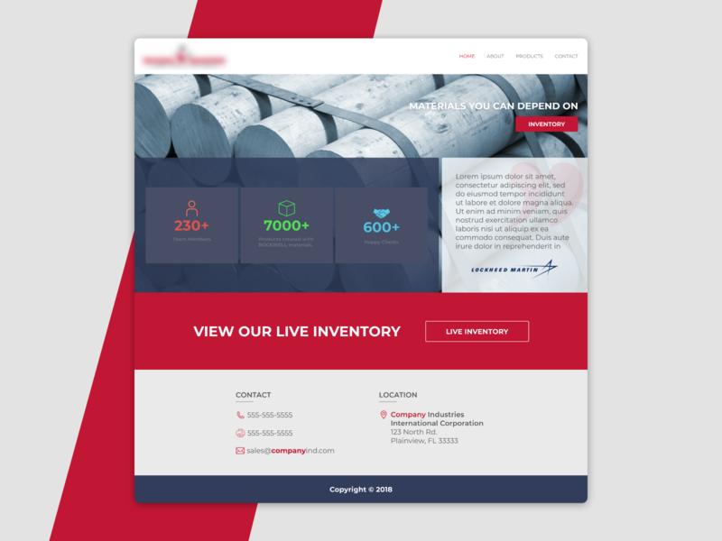 Website Design for a Materials Distributor (brand censored) ui web design web