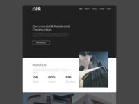 Modern Design for Construction Company Website