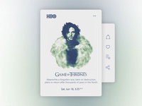 Game of thrones TV card