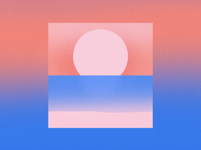 Looking at the Sunrise transition sunset sunrise sun sea motiongraphics motion design motion loop gif eye animation
