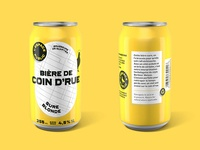 """Coin d'rue"" beer"