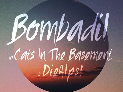Bombadil Poster poster design music band halftone lines handpainted type typography circle