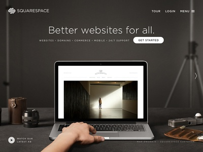 SQUARESPACE New Personas squarespace web design responsive advertising photography