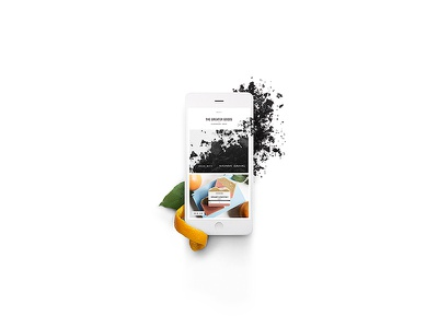 The Greater Goods website mobile iphone campaign build it beautiful advertising squarespace design