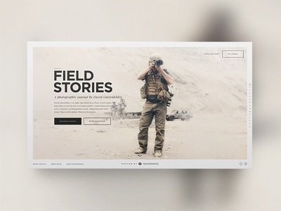 Field Stories design art direction squarespace parallax visual photo audio microsite website