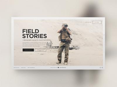 Field Stories design art direction squarespace parallax visual photo audio microsite website