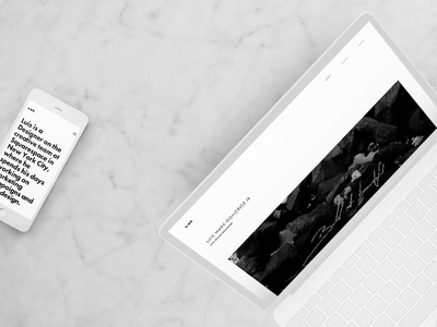 Updated Portfolio Site nyc bw black and white art direction brand design ux ui framework design template portfolio squarespace