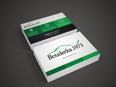 Bouderka 1973 French business card vector business cards templates free business card design business card mockup business card design