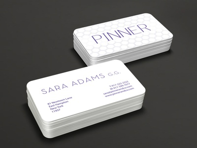 "Business card ""Pinner"" business card vector business cards templates free business card design business card mockup business card design"