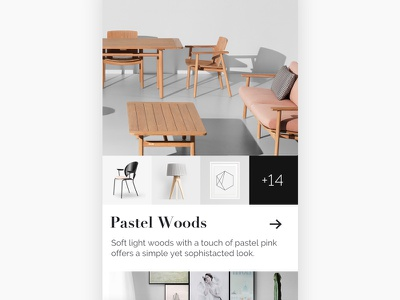 Furniture Shop the Look Concept app mobile feed furniture discover