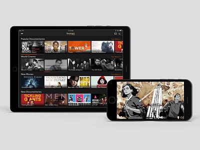 Kanopy Video App ui ux android ios app design product design
