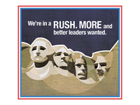 Run For Office Poster - Rushmore