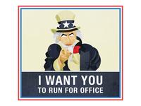 Run For Office Poster - Sam