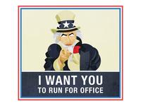 Run For Office Poster - Sam
