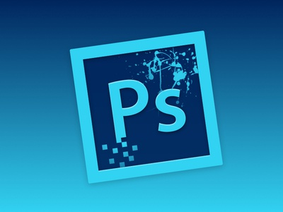 Photoshop photoshop replacement blue cyan paint pixels adobe replacement icon icon
