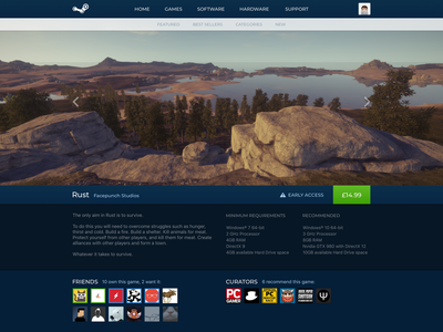 Steam Store Page Redesign (1/2) ui gaming valve web redesign store steam