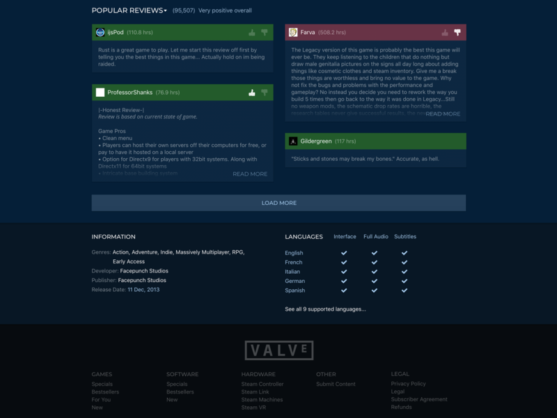 Steam Store Page Redesign (2/2) ui gaming valve web redesign store steam