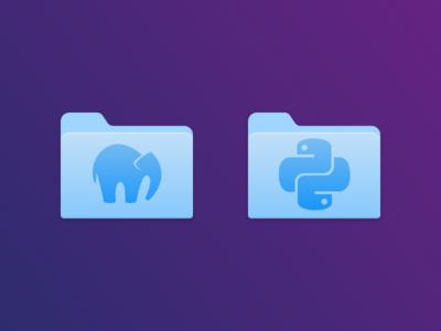 MAMP & Python Folder Icons mac replacement icon glacier folders mamp python