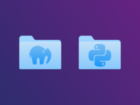 MAMP & Python Folder Icons