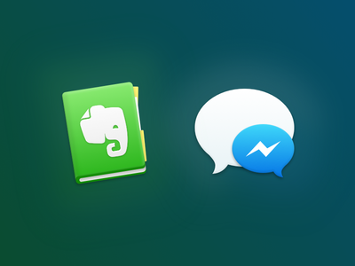 Evernote & Messenger for Glacier replacement mac glacier icon messenger facebook evernote