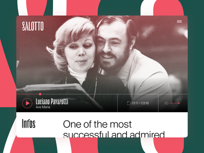 SALOTTO - ITILIAN RADIO HOME PAGE typography minimal ux ui