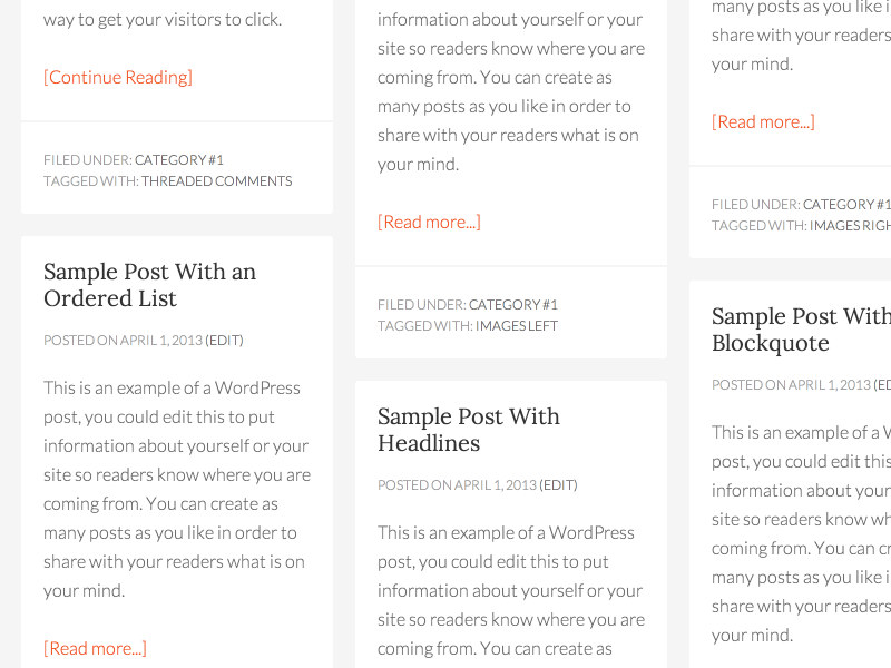 How about a Pinterest-style theme for Genesis?