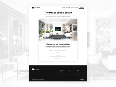 Agent Engine Newsletter Opt-In subscribe form optin newsletter minimalism black and white minimalist design