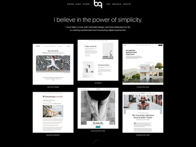 Brian Gardner Home Page Redesign geomanist minimalist design minimalism typography black and white minimalist design