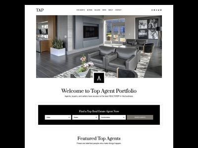 Top Agent Portfolio real estate black and white minimalist design genesis framework wordpress