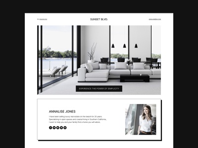Sunset Blvd - Real Estate Design realestatebrand realestateagent realestate minimalism black and white minimalist design