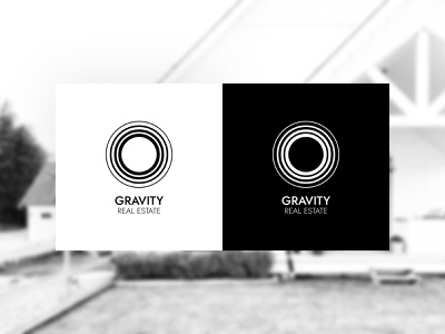 Gravity Real Estate Logo Concepts minimalist design minimalist black and white minimalism