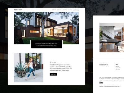 Rodeo Drive - Real Estate WordPress Theme personal branding minimalist design minimalism real estate branding wordpress theme wordpress real estate rodeo drive