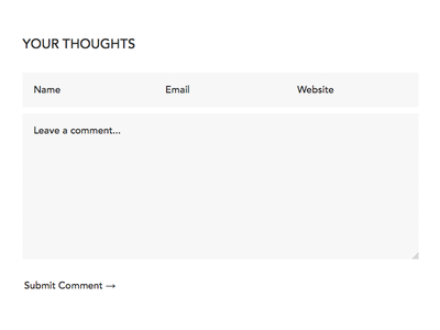 Minimalist Comment Form
