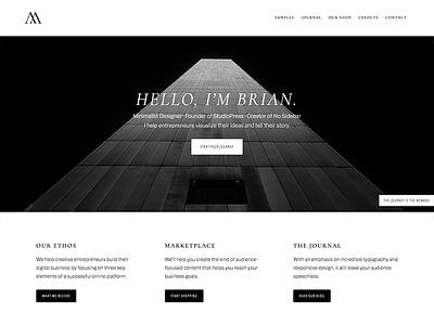 Minimalist Design genesis framework wordpress minimalist