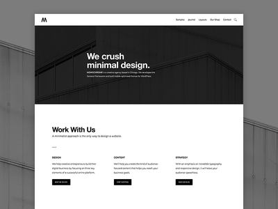 Monochrome Pro genesis framework wordpress minimalist