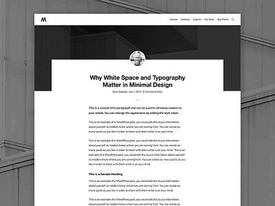 Monochrome Single Post genesis framework wordpress minimalist