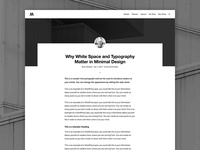 Monochrome Single Post