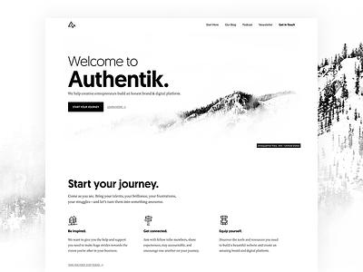 Welcome to Authentik white space minimal design genesis framework