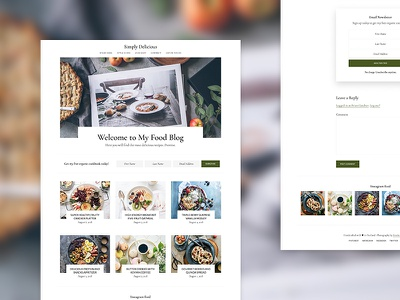 Food Blog Theme wordpress genesis framework minimalism