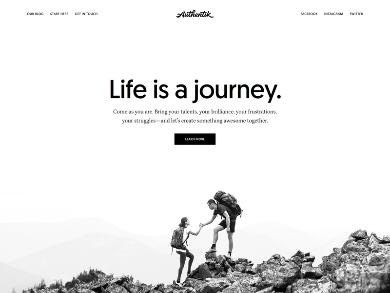 Authentik Homepage Redesign