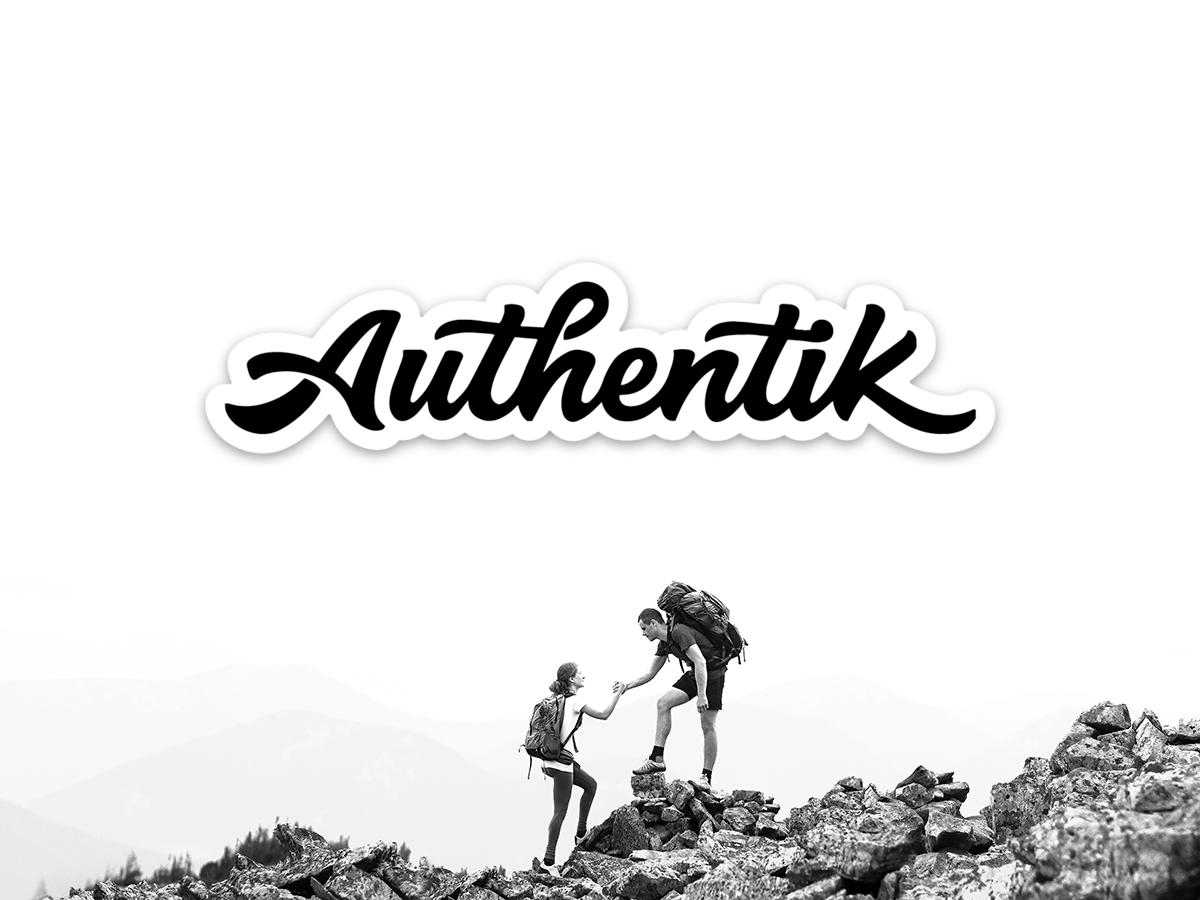 Authentik Stickers black and white mountains logo design minimalist design minimalism minimalist