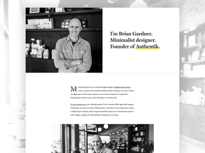Brian Gardner Redesign minimalist typography black and white minimalist design minimalism genesis framework wordpress