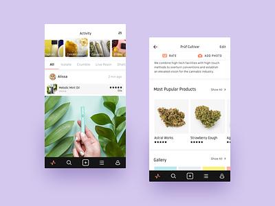 Doja App app cannabis interaction ios ui ux pastel marijuana application case study