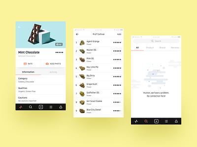 Doja App iOS app cannabis interaction ios ui ux pastel marijuana application case study
