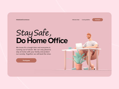 Home Office - Landing page Design website uiux web design webdesign landingpages web landingpage homeoffice ux ui minimal germany designs design clean 2021 trend 2021 design 2021