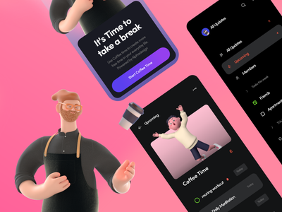 Coffee Time - Mobile App Concept trendy design trend uiux mobile uiux mobile design mobile ui mobileapp mobile app website modern ux ui minimal germany designs design clean 2021 trend 2021 design 2021