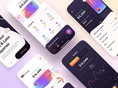Finance App - Mobile App Design finance app finances finance modern mobile design mobile app design mobile ui mobile app mobile alphadesign ux ui minimal germany designs design clean 2021 trend 2021 design 2021