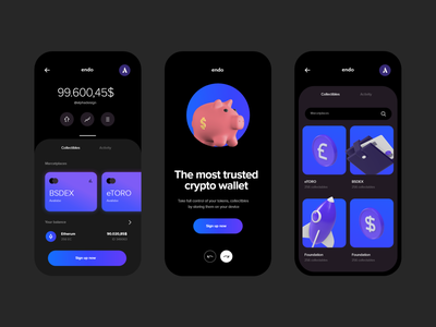 Crypto Currencies - Mobile Banking App mobile uiux crypto currency alphadesign creative design cryptocurrency crypto wallet crypto ux ui minimal germany designs design clean 2021 trend 2021 design 2021