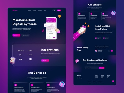 Finance Service - Website Design website design julius branding alphadesign modern ui ux uiux webdesign web design web website ux ui minimal germany designs design clean 2021 trend 2021 design 2021