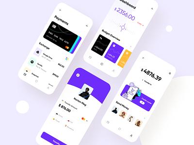 Finance App - Mobile Design Concept ui ux uiuxdesign uiux julius branding alphadesign mobile design mobile app design mobile ui mobile app mobile ux ui minimal germany designs design clean 2021 trend 2021 design 2021